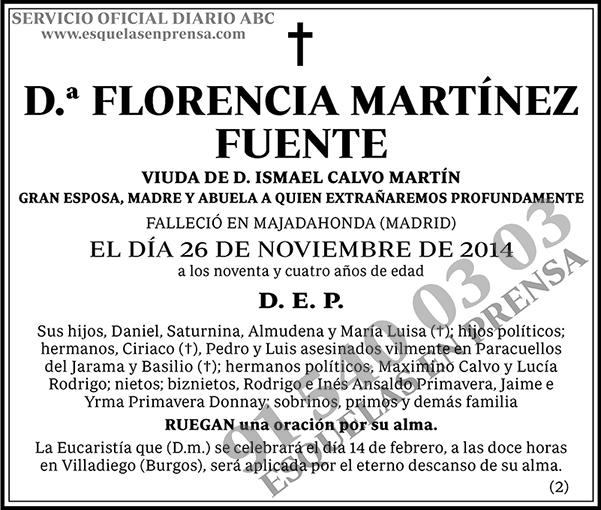 Florencia Martínez Fuente